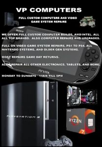 Video game system repairs, ps,ps2,ps3,ps4,vita,ds,wii