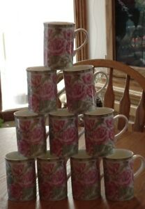 Royal Bone China Mugs (set of 10)