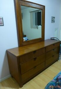 2 side bed cabinets plus dresser with mirror