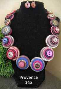 Unique button necklaces