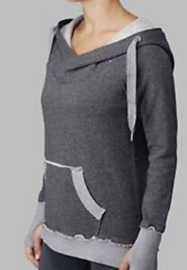 lululemon effortless hoodie static mid dark gray sweatshirt thum