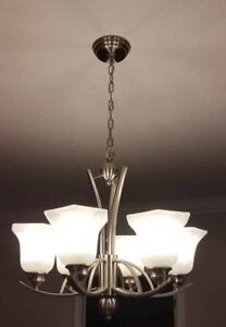 Modern /  contemporary   6 light   Chandelier