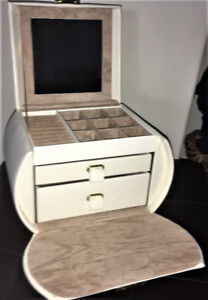 Cream Colored Jewelry Box by Tuscan Designs