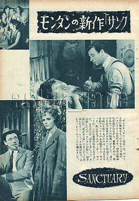 1961, Yves Montand & Lee Remick Japan Vintage Clippings 2essn