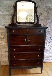 """Antique """"Tallboy"""" Dresser for Bed & Breakfast"""