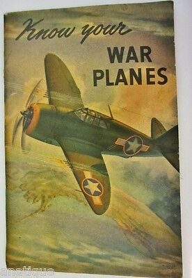 1943 WWII Booklet Know Your War Planes Coca Cola Advertising on Rummage