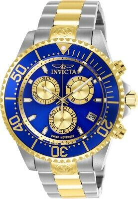 Invicta 26851 Pro Diver Men's 47mm Chronograph Two-Tone Steel Blue Dial Watch