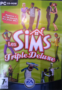 PC CD-ROM, Les Sims Triple Deluxe, USAGÉ