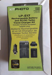Cannon L-E17 Battery and charger