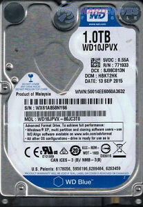 "Western Digital 2.5"" SATA 1.0TB Laptop HDD WD10JPVX-22JCT0"