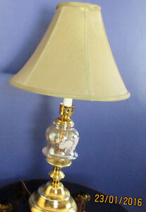 Brass Plated Crystal Glass Lamp Cambridge Kitchener Area image 2