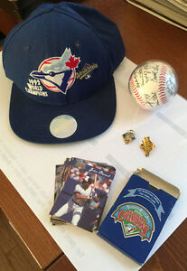 Official Blue Jays 1992 World Champions Hat, Pins, Ball & Cards
