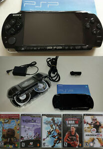 PSP w/ case and 7 games