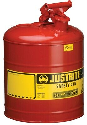 New Justrite 7150100 Usa Made 5 Gallon Steel Type 1 Safety Gas Fuel Can 6335756
