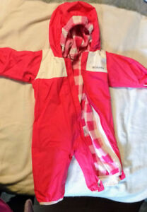 Girl's Pink Columbia Baby Snowsuit Interchangeable size 6 months