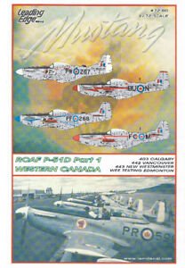 RCAF P51 MUSTANG LEADING EDGE 1/72 DECAL CANADA