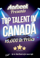 Search for TOP TALENT in Canada! $5,000 in prizes! Ends Feb 28