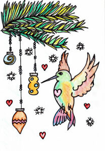 Beautiful Christmas cards by artist with ASD (autism)