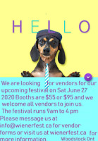 VENDORS WANTED FOR  FESTIVAL