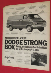 1971 DODGE TRADESMAN EXTENDED VAN STRONG BOX AD - VINTAGE 70S