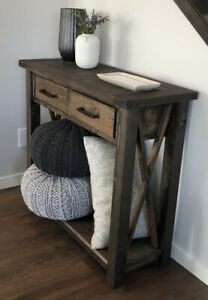 Console Table with Cross Detail