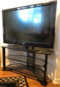 "Used 42"" 1080p LG TV and TV stand for sale"
