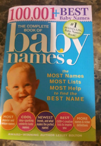 The Complete Book of Baby names $10