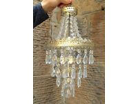 Vintage Antique style Three Tier teardrop Chandelier for pendant light fitting