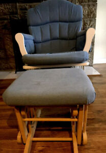 Moving sale - glider, ottoman, stool, microwave stand, bookcase