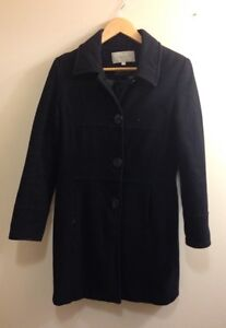 Wool and cashmere winter coat