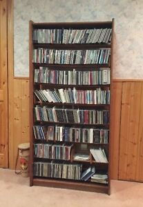 Unité de rangement en bois Teck pour CD ou DVD
