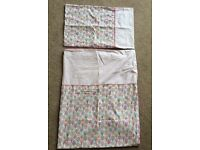 Girly Cot bed set