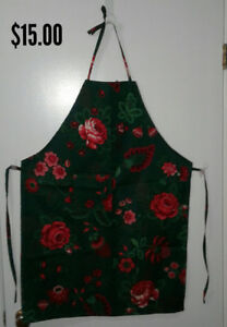 Full Apron with ties on neck and waist