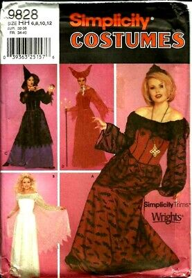 Simp 9828 Evil Queen Teenage Witch Costumes Pattern