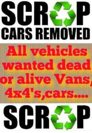 Scrap cars wanted, honda,mazda,bmw, peugeot, etc cash waiting!!