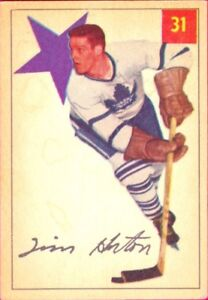 TIM HORTON .... 1954-55 Parkhurst .... very nice card
