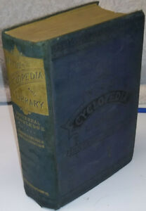 1884 Old Antique Cyclopedia World's Book
