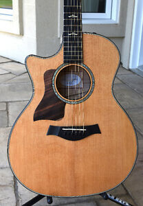 EXCEPTIONAL TAYLOR GUITAR 614CE LEFTY 2015 new condition