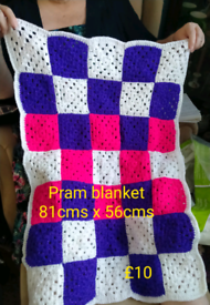Baby Blanket! Bright colours for Pram, Pushchair, Moses basket, etc