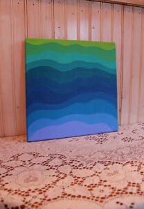 Small abstract painting West Island Greater Montréal image 3