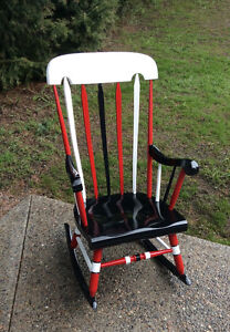 Chicago Blackhawk Antique Rocking Chair