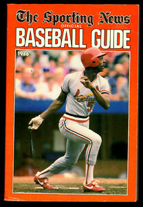 1986 The Sporting News Baseball Guide 512 pages excellent