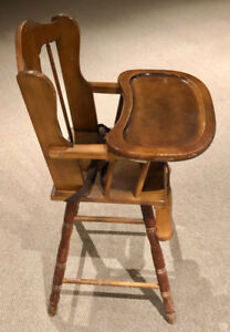 Baby High Chair Solid Wood
