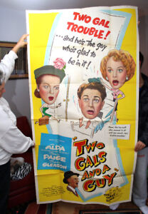 Two Gals and a Guy- 1951 Large, Original 3-sheet Movie poster-