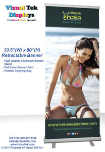 """33.5""""(W)x80""""(H) Roll-Up / Pull-Up / Retractable Banner"""