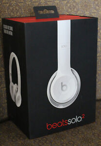 NEW White Beats by Dr. Dre Solo 2 On-Ear Headphones