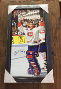 Patrick Roy coupe stanley 1993 Canevas signature authentique