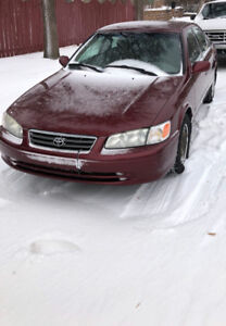 2001 RED TOYOTA CAMRY