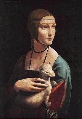 Leonardo da VINCI Dame mit Hermelin hochwertiger LICHTDRUCK NEU -Rarität