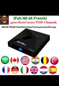 MAX Android 8.1 tv box ~ 2500 channels ~ USA, Canada, Arabic etc